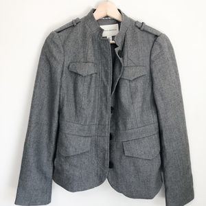 Banana Republic Gray Military Style Jacket Small